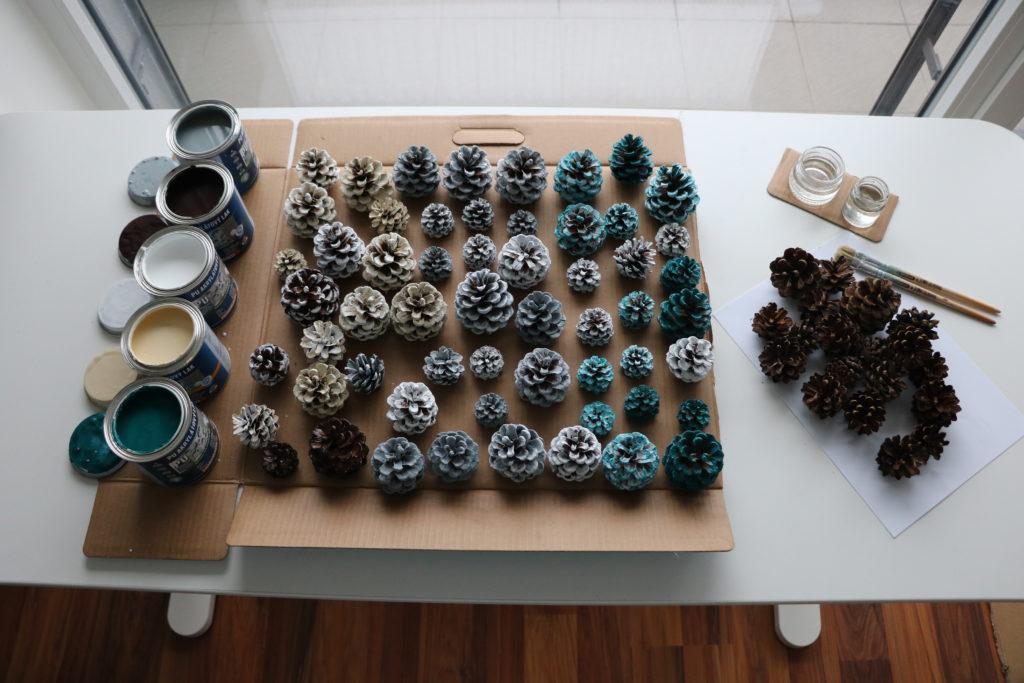 Výroba šiškového věnce